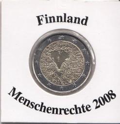 Finnland 2 € 2008, Menschenrechte