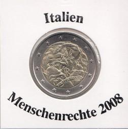 Italien 2 € 2008, Menschenrechte