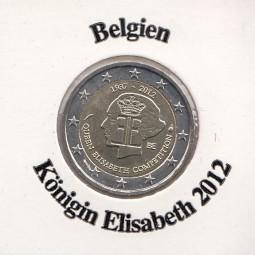 Belgien 2 € 2012, Königin Elisabeth