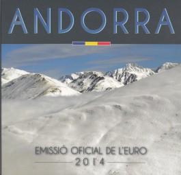 Andorra Kursmünzsatz 2014 ST