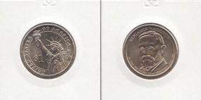 23 USA Präsidenten - Dollar 2012, Harrison, Buchstabe D, bankfrisch