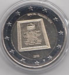 Malta 2 € 2015, Republik , mit Prägezeichen NL-Mint,