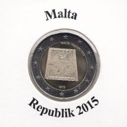 Malta 2 € 2015 Republik , lose aus der Rolle bankfrisch