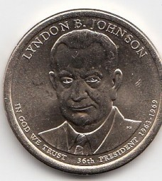 USA Präsidenten Dollar 2015, B. Johnson Buchstabe D