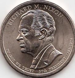 USA Präsidentendollar 2016 Nixon Buchstabe D , bankfrisch aus der Rolle