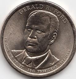 USA Präsidenten - Dollar 2016, Ford, Buchstabe P, bankfrisch aus der Rolle