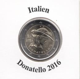 Italien 2 € 2016, Donatello, bankfrisch aus der Rolle