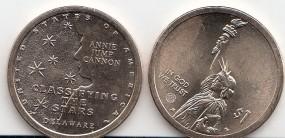 USA INNOVATION Dollar 2019,Delaware, Buchstabe D, bankfrisch,