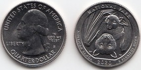 USA Quarter 2020 American Samoa Park P, bankfrisch