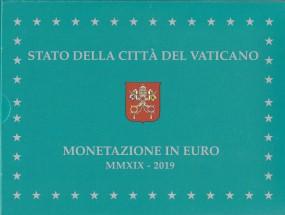 Vatikan Kursmünzsatz 2019 PP / polierte Platte incl. 20 € Gedenkmünze in Silber
