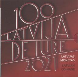Lettland KMS 2021, im offiziellen Blister , Nominale : 5,88 €