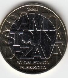 Slowenien 3 € 2020, Unabhängigkeit, bankfrisch aus der Rolle