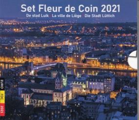Belgien KMS 2021 ST ( Nominale 8,88 € incl. 2 x 2,5 € Mz. )