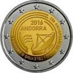Andorra 2 € 2016 25 Jahre Rundfunk im offiziellen Blister Lieferung am 13.6. 2017