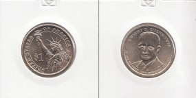 34 USA Präsidenten - Dollar 2015, Eisenhower Buchstabe D